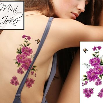 Mini Joker | Awesome Tattoos Purple Roses Temporary Tattoo