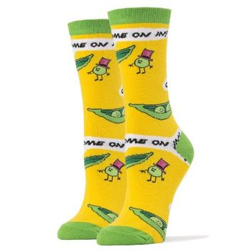 Oooh Yeah Women'S Luxury Combed Cotton Crew Socks - Peas In A Pod - Walmart.com