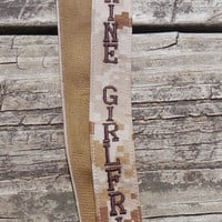 US Marine Girlfriend Lanyard, Military, Tan Marpat, Embroidered, Armed Forces