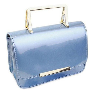 Chic Metal and Patent Leather Design Tote Bag For Women