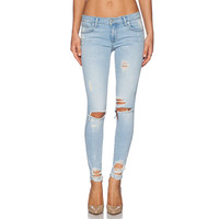 Blue Distressed Ripped Skinny Pants