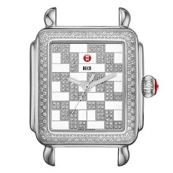Women's MICHELE 'Deco Diamond' Diamond Dial Watch Case, 33mm x 35mm (Limited Edition)