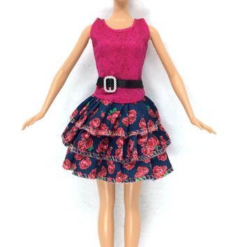 Newest Dress Beautiful Handmade Party ClothesTop Fashion Dress Barbie Noble Child Girls'
