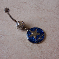 NFL Belly Rings Dallas Cowboys Body Jewellery