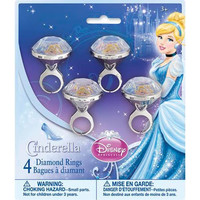 Cinderella Party Diamond Rings [4 per pack]
