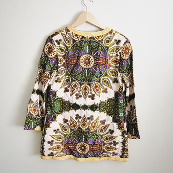 The Moraccan - Vintage 70s Tapestry Print Boho Jacket