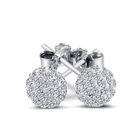 925 Sterling Silver Cubic Zirconia Stud Earrings