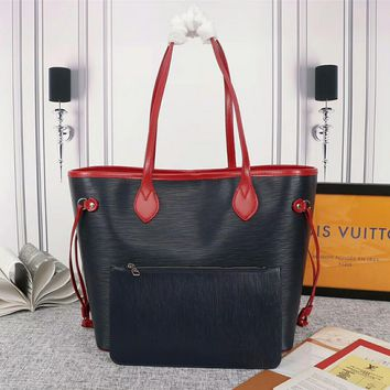 Kuyou Lv Louis Vuitton Gb29714 40882 New Wave Epi Leather Neverfull Medium Handbag 32x29x17cm