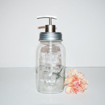 Mason Jar Soap Dispenser Vintage Clear Knox Mason Jar Soap Pump Kitchen Soap Dispenser Bathroom Soap Dispenser