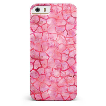 Pink Watercolor Giraffe Pattern iPhone 5/5s or SE INK-Fuzed Case