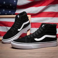 Trendsetter Vans SK8-HI High-Top Leather Flats Sneakers Sport Shoes