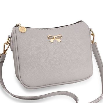 Day-First™ Vintage cute bow small handbag women clutch ladies mobile purse famous brand shoulder messenger crossbody bags WZ139