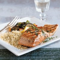 Grilled Salmon with Lemon Oil and Basil | Williams-Sonoma