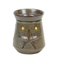 """Brown Star Design Tart Warmer. Perfect for Warming Tarts, and Scented Oils. Candle Warmers Use 25w Bulbs (Included). Overall Height 6"""" By About 5"""" Diameter."""
