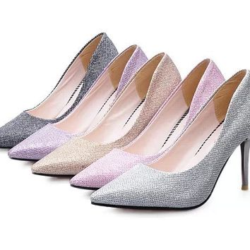 Womens Classic Glamorous Pointy High Heels