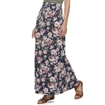 Juniors' Joe B Cinched Waist Floral Maxi Skirt | null