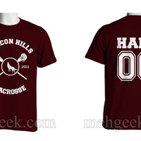 Hale 00 Beacon Hills Lacrosse Wolf Logo Teen Wolf Men T-shirt