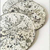 Antique Glass Coasters | Set of 4