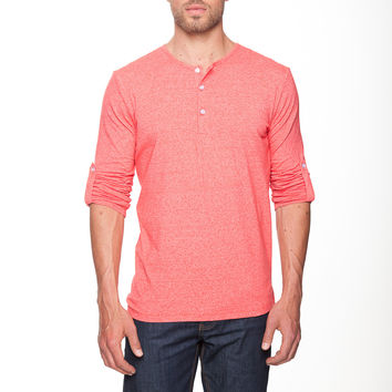 The Henley Shirt in Tolowa Red by Mizzen+Main