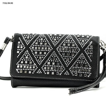 * Rhinestone Cross Body Wallet