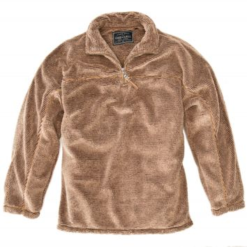 True Grit - Luxe Fleece Stripe Zip Pullover :: Sweaters & Pullovers :: Men's Apparel :: Mens :: Oak Hall
