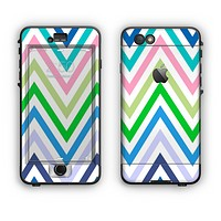 The Fun Colored Vector Sharp Chevron Pattern Apple iPhone 6 Plus LifeProof Nuud Case Skin Set