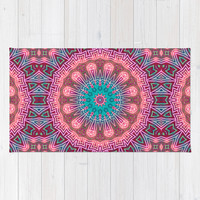 Fiorenzo Crystal mandala Area & Throw Rug by Webgrrl