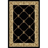 Tayse Rug Sensation 4883 Black Area Rug