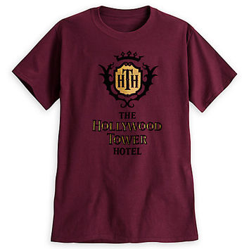 Hollywood Tower Hotel Crest Tee for Adults | Disney Store