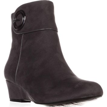 Impo Goya Wedge Ankle Boots, Steel Grey, 5.5 US