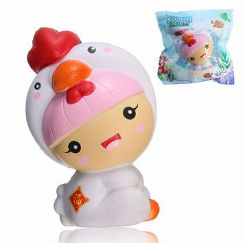 Squishy Factory Girl Wearing Chick Costume Chicken Baby 11cm Slow Rising With Packaging Gift Toy