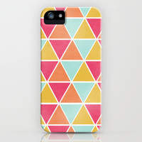 THE BRIGHTEST TRIANGLES iPhone Case by Allyson Johnson