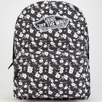 92b037e53a86d3 Vans Realm Backpack Black White One Size For Women 25711212501