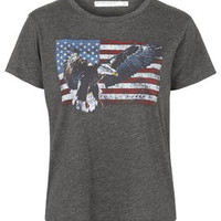 Eagle Flag Tee By Project Social T - Charcoal
