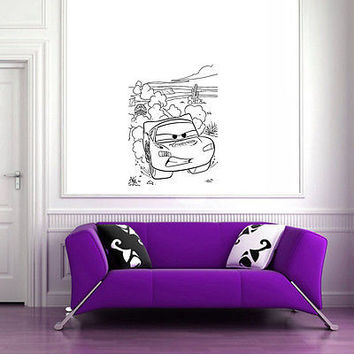 Wall Mural Vinyl Sticker Decal  evil nature machine DA1038