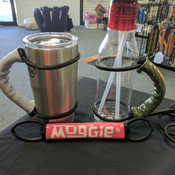 MUGGIE Handle for Yeti, Rtic, Ozark Trail and MORE - up to 30 oz. Pink/White
