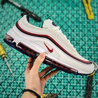 Nike Air Max 97 Premium Red Crush Sport Running Shoes - Best Online Sale