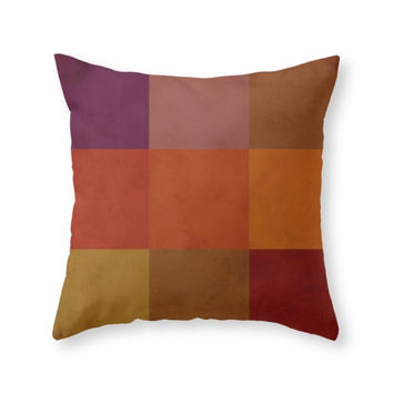 Society6 Fall Colors Throw Pillow