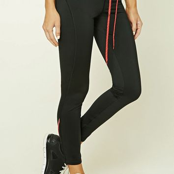 Active Drawstring Zip Leggings