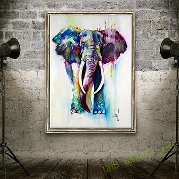 Kate Canvas Painting HD Printed On Canvas Art Animal Watercolor Elephant Wall Pictures For Living Room Home Decorative Unframed