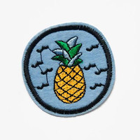 Pineapple Patches - Tropical Patch - Pineapple Patch - Rockabilly Patch - Iron On Patch - Pineapple Applique Pineapples Embroidered
