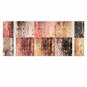 "Nina May ""Tavertina Earth"" Brown Coral Digital Luxe Rectangle Panel"