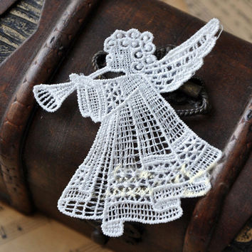 Trumpet Angel Cut Out Silk Texture Cloth Accessory for Arts