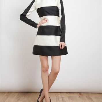 STELLA MCCARTNEY | Striped Silk-blend Dress | Browns fashion & designer clothes & clothing