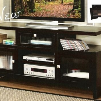 Jupiter espresso finish wood folding TV media stand console