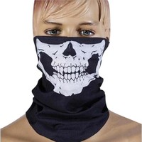 Punk New 3 in1 Men Women Unisex Skull Hat Neck Tube Snood  Face Mask Cap bonnet Scarf Beanie Biker Balaclava Halloween W1