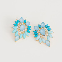 Naomi Blue Stone Earrings