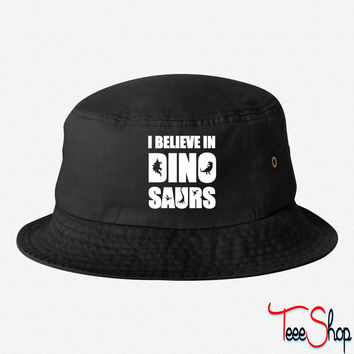 I Believe In Dinosaurs (little dinosaurs) bucket hat