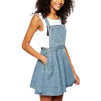 Denim Dress Suspender