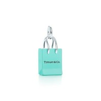 Tiffany & Co. | Item | Tiffany & Co.?- Shopping Bag charm with enamel finish in sterling silver. | United States